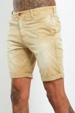 Mens Stone Faded Turn Up Shorts