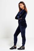 Navy Velour High Neck Loungewear Jogger Set