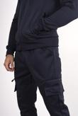 Mens Navy Utility Pocket Zip Tracksuit
