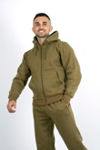 Mens khaki Fleece Jogging Pockets Plain Tracksuit