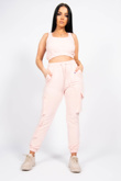 Dusty Pink Two Piece Cargo Lounge Set