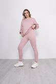 Pink Buffalo Slogan Jumper And Jogger Set