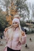 Pink Fur Hood Jacket