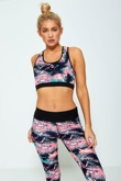 Pink Multicolour Printed Activewear Jogger Set