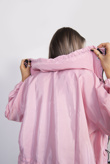 Dusty Pink Hooded Waterproof Festival jacket