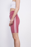Pink Double Stripe Cycling Shorts