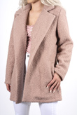 Dusty pink collared pocket detail duster jacket