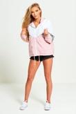 Pink Zip Through Hooded Jacket