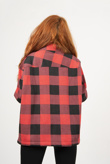 Red And Black Checked Shacket