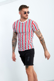 Red Multi Stripe T-Shirt