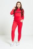 Red Striped Loungewear Sweatshirt Jogger Set