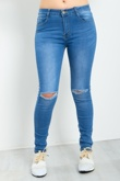 Ripped Knee Detail Skinny Denim Jeans