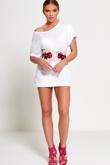Rose Embroidered Corset Waist Belt