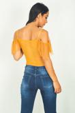 Mustard Mesh Ruffle Bodysuit