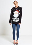 Black Santa Baby Christmas Jumper