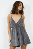 Silver Glitter Strappy Playsuit