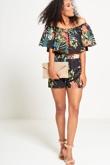 Tropical Printed Bardot Set