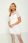 White Floral Lace Sheer Panel Maxi Dress