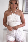 White Lace Occasion Playsuit