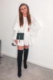 White Pleated Ruffle Mini Dress