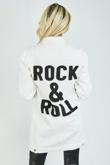 White Rock & Roll Longline Denim Jacket