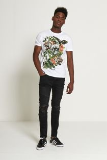 Graphic Print Skull T-shirt From Brave Soul