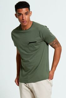 Khaki Zip Pocket T-Shirt