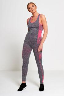 Pink Sports Stripe Activewear Top