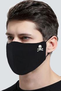 Mens Black Skull Re-Usable Anti Dust Hygiene Face Mask