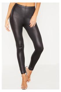 Black PU Leggings