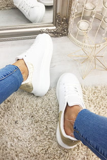 Gold Chunky Oversized Trainers