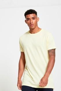 Mens Yellow Longline Urban T-shirt