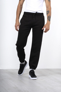Mens Black Basic Cuffed Joggers