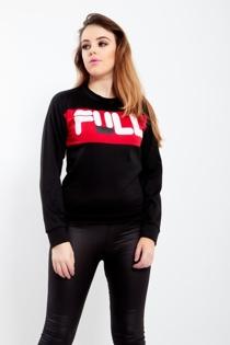 Black Full Slogan Print Sweatshirt