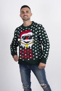 Mens Green Slogan Knitted Christmas Jumper