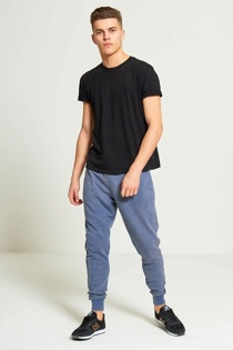Mens Blue Faded Jogging Bottoms