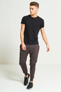 Mens Charcoal Faded Jogging Bottoms