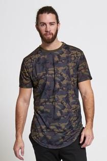 Mens Charcoal Fish Tail Camo T-Shirt
