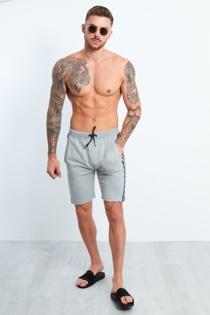 Mens Grey Dominion Panel Jersey Shorts