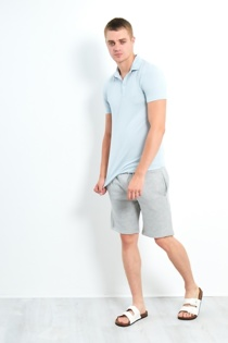 Mens Light Blue Slim Fit Polo Shirt