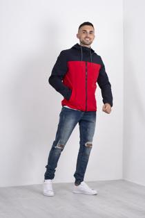Mens Navy Two Tone Windbreaker jacket