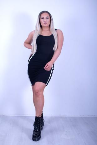 Black Side Stripe Bodycon Dress
