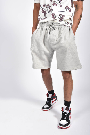 Mens Grey Basic Jogger Shorts