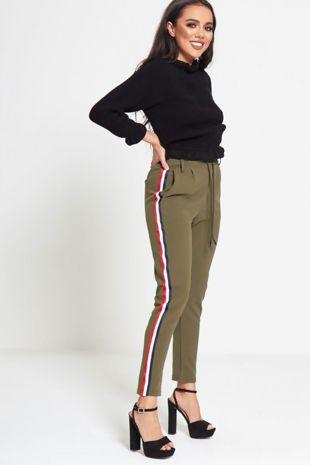 Black Frill Neck Knitted Jumper