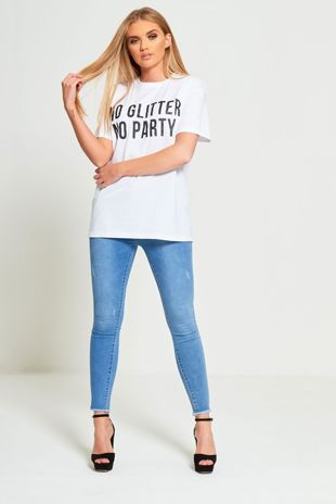 Pearl Pocket Frayed Hem Light Denim Skinny Jeans