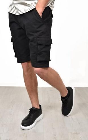 Mens Black Bute Cargo Shorts
