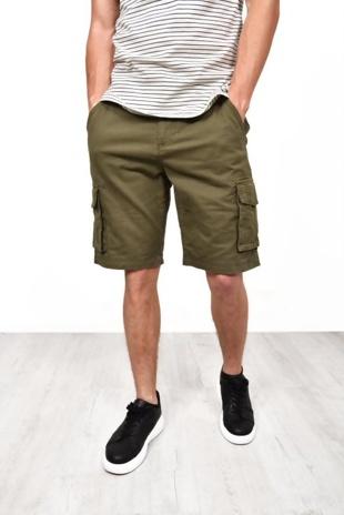 Mens Khaki Bute Cargo Shorts