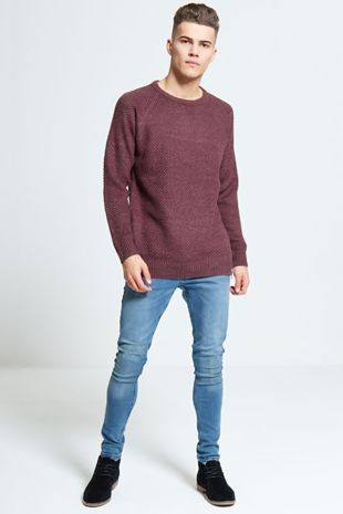 Cable Knit Zip Detail Jumper