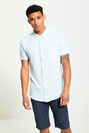 Pocket Detail Blue Shirt