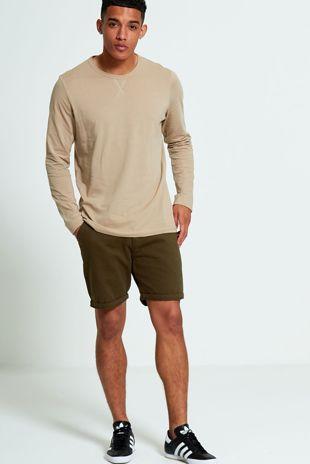Brave Soul Long Sleeve Mocha T-shirt